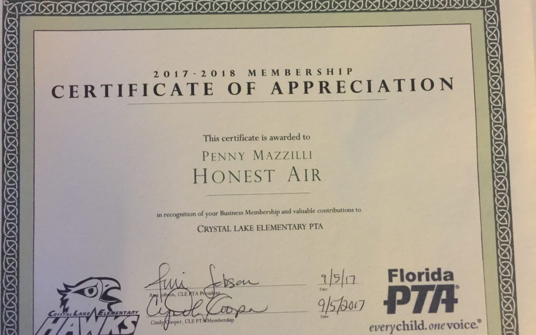 Honest Air Inc Sponsors Our School Children, Classroom, and Sports Teams