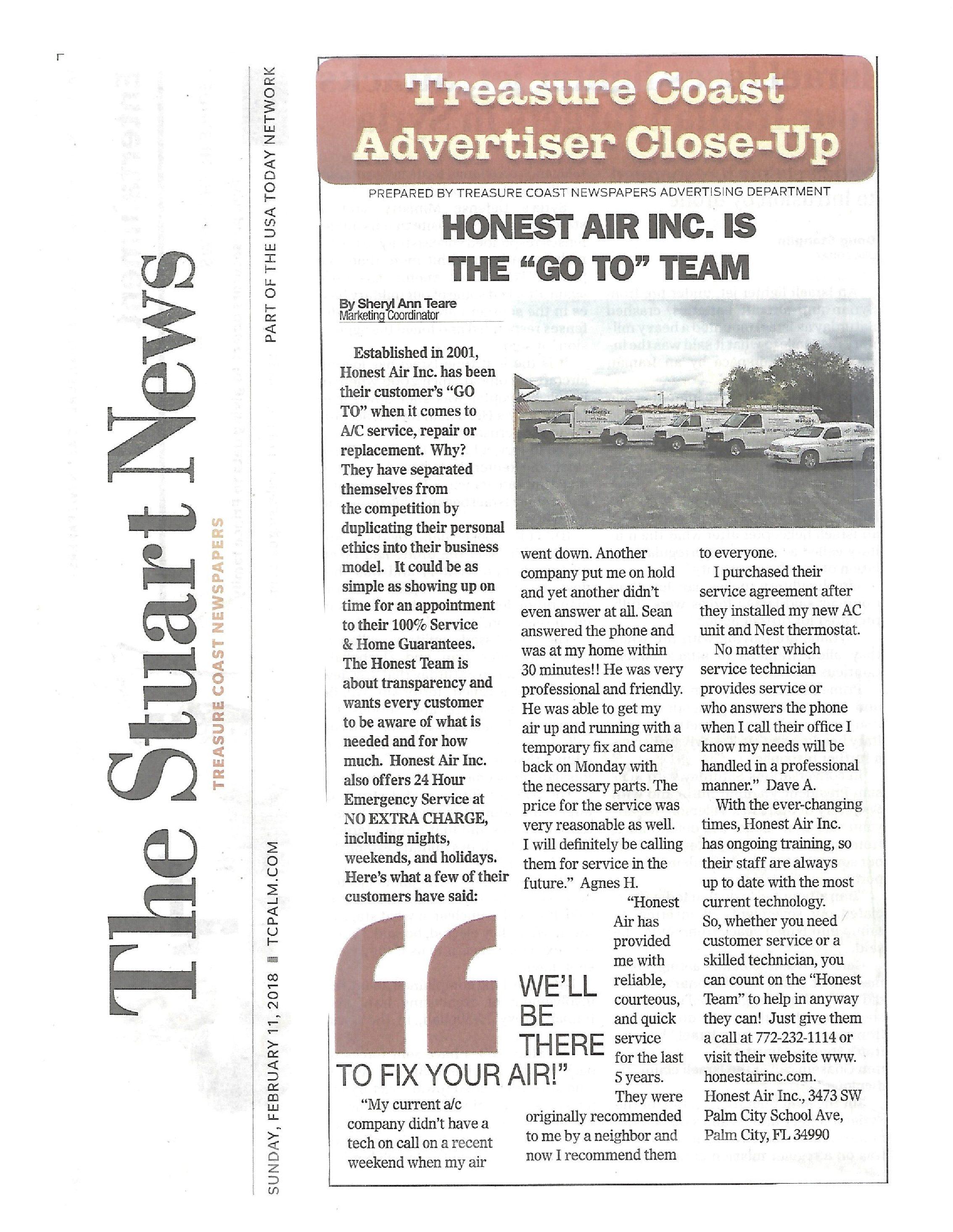 The Stuart News Advertiser Close Up