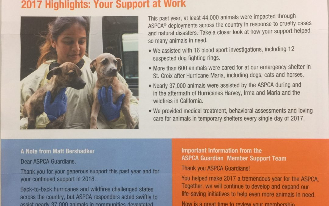 Honest Air Inc. is a Supporter of the ASPCA and Other Charities